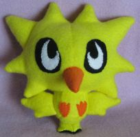 Zapdos Pokedoll by AmberTDD
