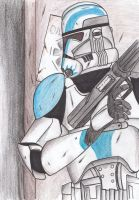 Clone trooper preparing to breach by Funtimes