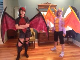 Spyro and Cynder (Pre MechaCon 2014) by ClaireMcWolf