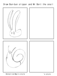 Draw Bun-bun slipper and Mr Bert the Snail meme by Detective-May