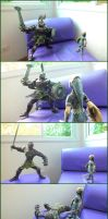 Zora Armor Link vs. Darknut (TLoZ: TP Papercrafts) by BrunoPigh