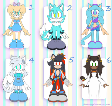 ADOPTABLES (Now closed) by SiIent-AngeI