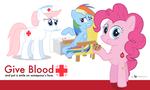 Ponyville Blood Drive Poster by dm29