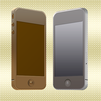 Gold and silver iPhone by Uriy1966