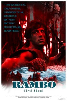 RAMBO - FIRST BLOOD - movie poster by P-Lukaszewski