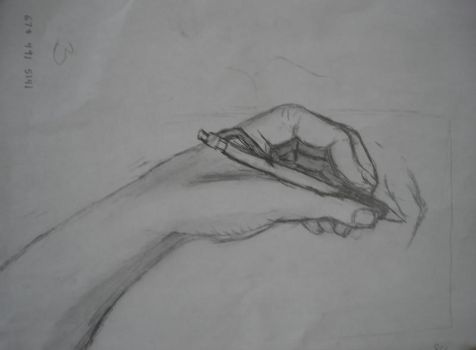 hand sketch by PsychoPuppet