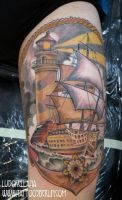 lighthouse tattoo by mojoncio
