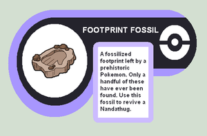 Footprint fossil by Cerulebell