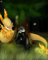B2 andW2-OC Kano and his Fire Serperior by Shinkou-san