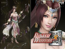DW8 Wallpaper - Diao Chan by Koei-Warrior