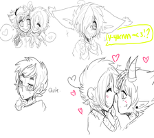 OC Doodles by DonitKitt