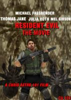 RESIDENT EVIL:THE MOVIE  Concept Movie Poster by ChrisAstro101