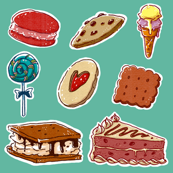 [Stock} Sweet Things Clipart Pack by dimawari