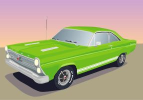 66 Ford Fairlane by godofodd