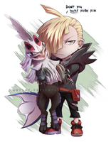 Gladion and Silvally chibi