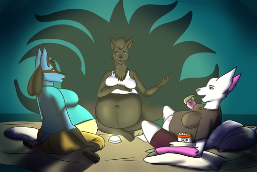 Night of the creepy sleepover by Deliveredmean42
