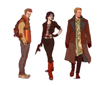 Neuromancer_Main Characters by Deimos-Remus
