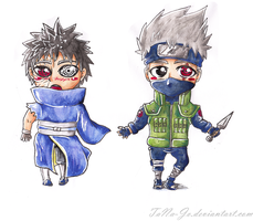 Kakashi and Obito by TaNa-Jo