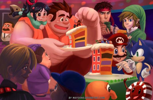 Wreck it ralph - party the way he wants it by mayshing