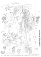 Dramione - Mindless Doodles by snowcyclonedragon