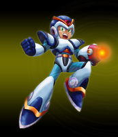 Megaman X cover - metal shading testing by Balthazar321