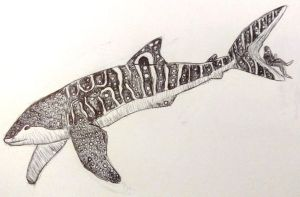 Inktober Day #21: Whale Shark by gearsGlorified