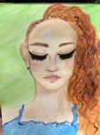 Red Haired Girl - Watercolour by BlackRose282