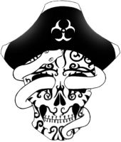 biohazard pirate voodoo skull by zombiefairyprincess