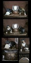 :.Cat Candle Holder.: by XPantherArtX