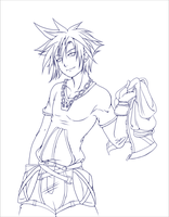 Collab: Sora - Lines by Lady-Zelda-of-Hyrule