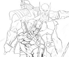 Wolverine, Deadpool, SS lines by Anothen