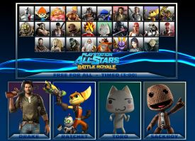 PlayStation All-Stars Battle Royale Roster 2 by PacDuck