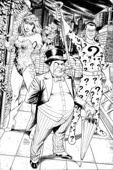 Poison Ivy, Penguin, and Riddler by craigcermak