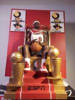 King LeBron ESPN by rickyscomics