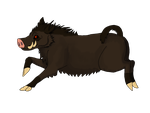 Running is such a boar (Treat) by Evelyn-Cross
