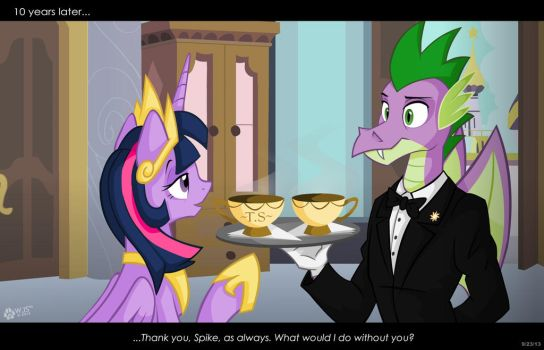 Spike the Butler by wolfjedisamuel