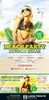 Beach Party Flyer + Facebook Cover by LouisTwelve-Design