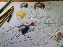 WIP - Attack on Titan! by TheSassyFox