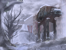 AT-AT Matte Painting by Snake-Eyes-Zero