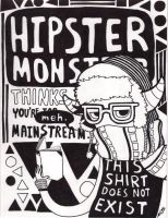 Hipster Monster by realgoodpizza