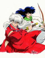 Inuyasha and Kagome by pensierimorti