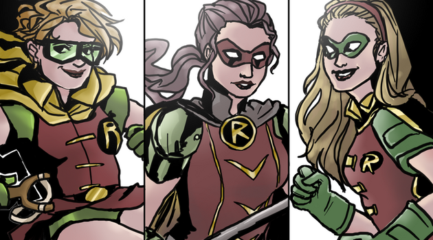 girl robins by superhoneybear