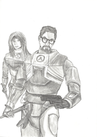 Old Work - Gordon Freeman by Harkaiden
