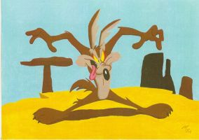 Wile E. Coyote by zombiegoon