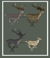 Riding deer-designs 7 by Percyvelle