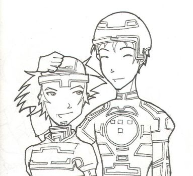 Tron and Sora - SnowPirateRoy by SoraxTron