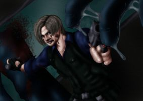Leon S. Kennedy - coloured by Michiko-Inuohara