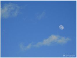 Moon During Daytime by missionverdana