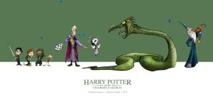 Chamber of Secrets Character lineup by SillyNate