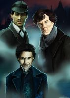 Three Sherlocks by julitka